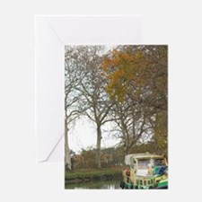 Near Carcassonne. Languedoc. Canal d Greeting Card