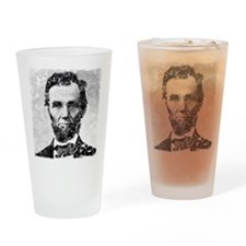 abe distressed Drinking Glass