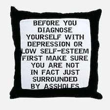 2000x2000beforeyoudiagnose Throw Pillow