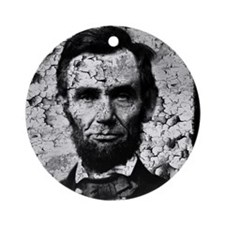 distressed abe MP Round Ornament