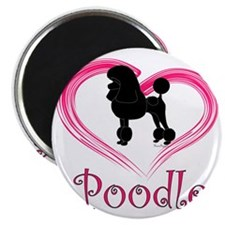 PoodleSilhouetteHeart Magnet