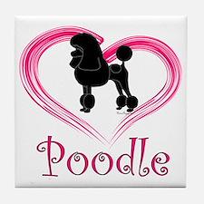 PoodleSilhouetteHeart Tile Coaster