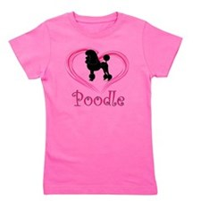PoodleSilhouetteHeart Girl's Tee