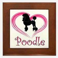 PoodleSilhouetteHeart Framed Tile
