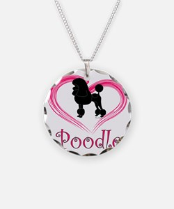 PoodleSilhouetteHeart Necklace
