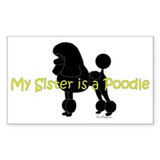 PoodleSilhouetteSister Decal