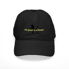 PoodleSilhouetteSister Baseball Hat