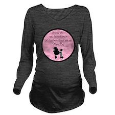 PoodleBlackGBF Long Sleeve Maternity T-Shirt