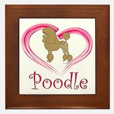 PoodleApricotHeart Framed Tile
