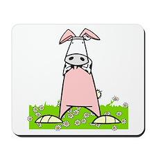 Easter Bunny Cow Mousepad