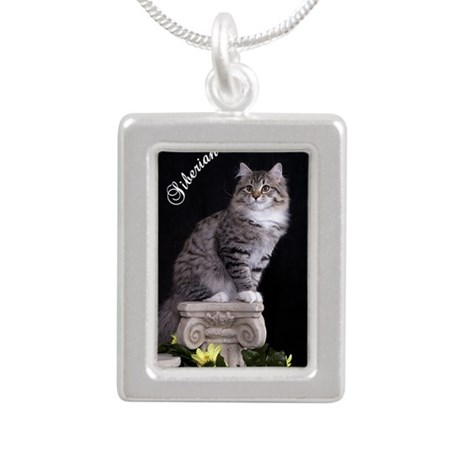 Siberian Oval Ornament Silver Portrait Necklace