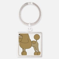 PoodleApricot Square Keychain