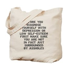 2000x2000beforeyoudiagnose2grayclear Tote Bag