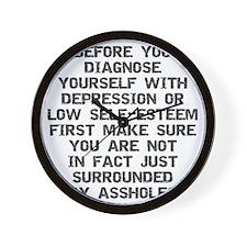 2000x2000beforeyoudiagnose2grayclear Wall Clock