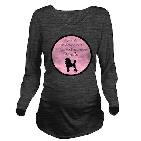 PoodleSilhouetteGBF Long Sleeve Maternity T-Shirt