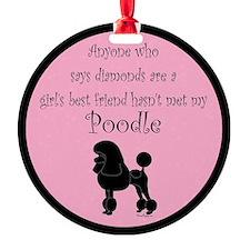 PoodleSilhouetteGBF Ornament