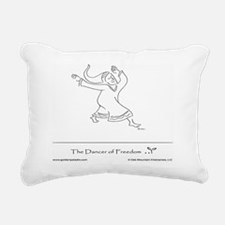 The Dancer of Freedom Rectangular Canvas Pillow