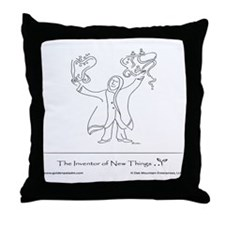 The Inventor of New Things Throw Pillow