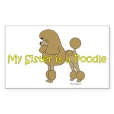 PoodleApricotSister Decal