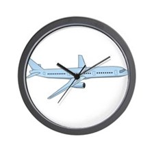Blue Jet Airplane Wall Clock