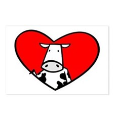I Heart Cows Postcards (Package of 8)