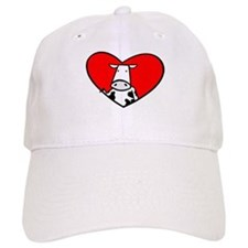 I Heart Cows Baseball Cap