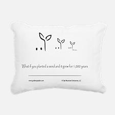Logo Title Rectangular Canvas Pillow
