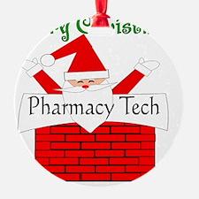 Pharmacy Tech Retro Santa Ornament