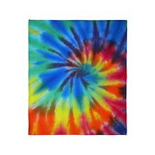 Blue Spiral iPad Throw Blanket