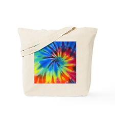 Blue Spiral iPad Tote Bag