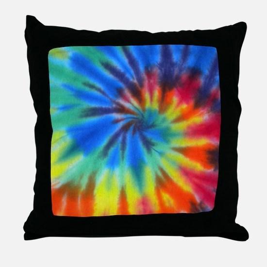 Blue Spiral iPad Throw Pillow