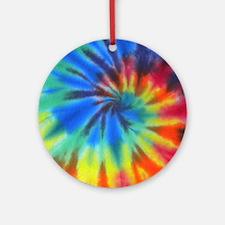 Blue Spiral iPad Round Ornament