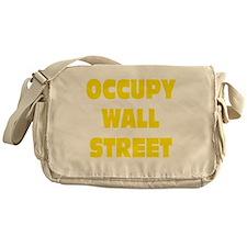 occupy wall street yellow Messenger Bag