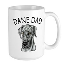 Black UC Dane Dad Mug