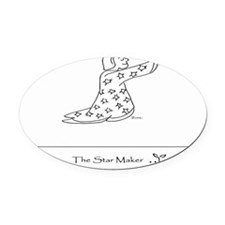 The Star Maker Oval Car Magnet