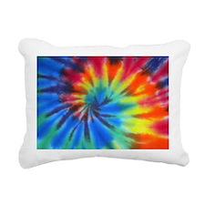 Blue Spiral Laptop Rectangular Canvas Pillow