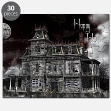 haunted_house_2_greeting_card_192_H_F Puzzle