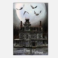 haunted_house_3_greeting_ Postcards (Package of 8)
