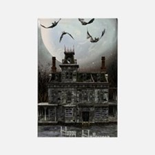 haunted_house_3_greeting_card_192 Rectangle Magnet