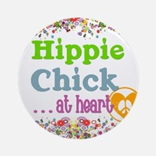 pillow-hippie-chick Round Ornament