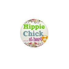 pillow-hippie-chick Mini Button