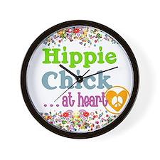 pillow-hippie-chick Wall Clock