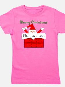 Pharmacy Tech Retro Santa Girl's Tee