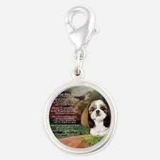 godmadedogs(button) Silver Round Charm