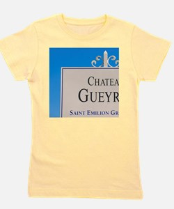 A white sign in the vineyard saying Cha Girl's Tee