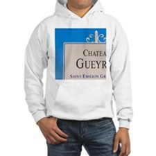 A white sign in the vineyard say Hoodie