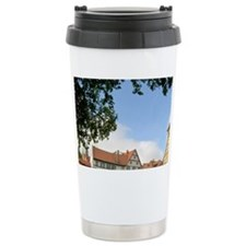 Old Town Hall on the river Regn Travel Mug