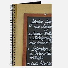 Restaurant menu sign with fresh food, Pass Journal