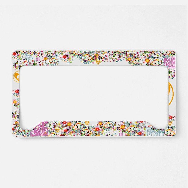 lg-hippie-chick License Plate Holder
