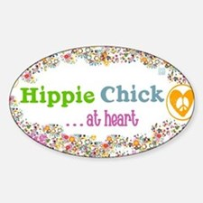 lg-hippie-chick Sticker (Oval)